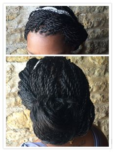Wedding hair with Senegalese twists fall 2014