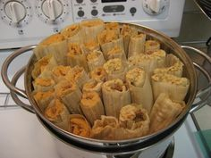 "Authentic Mexican Chicken Tamales:  Did you know the singular form for ""tamales"" is ""tamal"", not ""tamale""?"