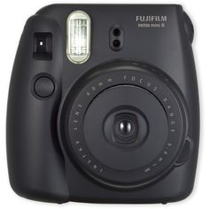 Fuji Black Instax Mini 8 Instant Camera (565 NOK) ❤ liked on Polyvore featuring camera, fillers, accessories and black