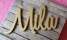 STANDARD Size Baby Name Letters Nursery by CucumberAppleStudio