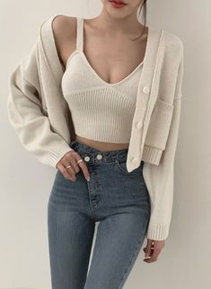 Cute Lazy Outfits, Casual Fall Outfits, Edgy Outfits, Korean Outfits, Mode Outfits, Girl Outfits, Fashion Outfits, Korean Street Fashion, Asian Fashion