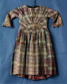 1848-1852 Tartan dress