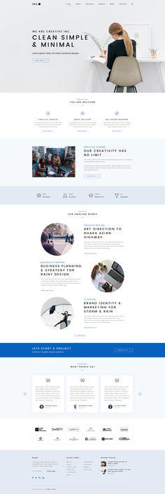 WordPress Minimal Theme Website Templates from ThemeForest - Web & Mobile UI & UX Designs – WordPress Minimal Theme – Ideas of WordPress Minima - Responsive Web Design, Ui Ux Design, Cool Web Design, Web Design Mobile, Site Web Design, Clean Web Design, Web Mobile, Design Food, Responsive Layout