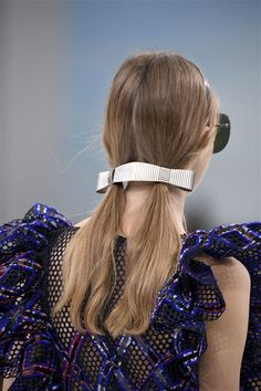 Key Items: Hair Accessories- Bold Barrettes- Double Barrette | Chanel SS16