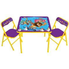 Nickelodeon Bubble Guppies Table and Chair Set, 3-Piece Nickelodeon ...