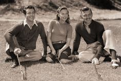 Clark Gable, Barbara stanwyck and Robert Taylor. Photo by Carole Lombard.