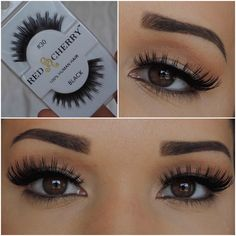 Awesome blog post showing lots of Red Cherry lashes and styles