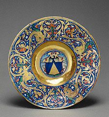 Lustered Armorial Plate, workshop of Maestro Giorgio Andreoli, 1524