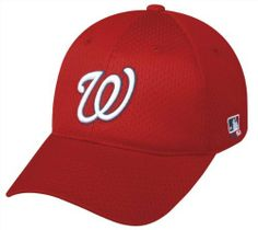 "MLB Flex FITTED Lg/XL Washington NATIONALS Home RED Hat Cap Mesh by Team MLB. $14.98. We are your team supplier with team qtys available.  This is a very popular style FLEX HAT with a retail tag of over $32 and you can purchase for your team at a fraction of the price. Want to feel like a pro? What a comfortable cap. -6 panel mesh. Structured, pro style mid-profile with 3D replica logo. Precurved visor. Stretchable fit. S/M Fits size 6 1/2"" to 6 7/8"", M/L Fits ..."