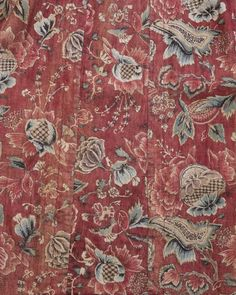 Detail of wentke, made of Indian cotton chintz, lined with linen. Hindeloopen, Friesland, Netherlands, 18th century.