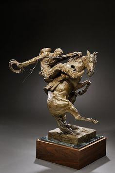 Fraughton Edward James Spirit Of Wyoming 1342 Angel Sculpture, Horse Sculpture, Bronze Sculpture, Animal Statues, Animal Sculptures, Native American Artwork, Cowboy Art, Western Art, Horse Art