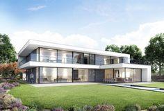 GO – Schellen Architecten House Cladding, Facade House, Modern Architecture House, Architecture Design, House Outside Design, Modern Villa Design, Model House Plan, Home Building Design, Luxury Homes Dream Houses