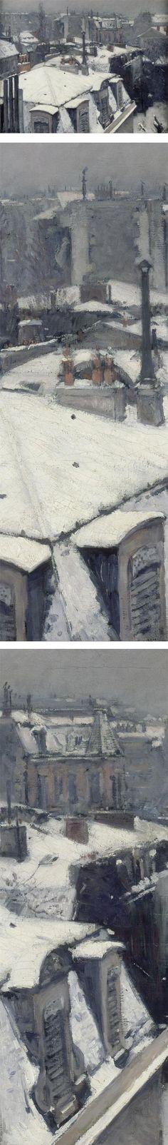 Eye Candy for Today: Caillebotte's rooftops in snow