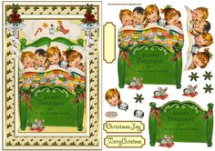 ** NEW TODAY ** I dream of toys Topper on Craftsuprint designed by Sandra Carlse - This is a lovely 'Vintage Decoupage Christmas' Topper. There are all the elements on this sheet for you to be able to make up your topper. I have also included 2 sentiment banners