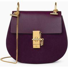 Chloe Sac Porté Épaule Drew, Femme Bags | Site officiel Chloé | ❤ liked on Polyvore featuring bags, handbags, purple purse, purple bags and purple handbags