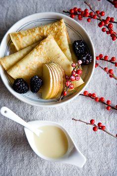Eggnog Crepes by tartineandapronstrings: Just in case you have some eggnog left over! #Crepes #Eggnog