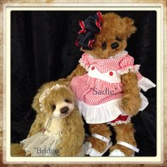 New little girl bears~~  By-Bonnie Foster ~The Kids and Teddy Too  http://www.kidsandteddytoo.com/new-bears.php