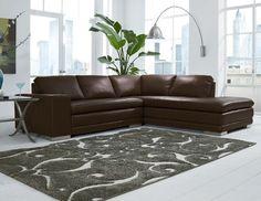 Novo Home 7900 Dark Chocolate Sectional North Carolina Furniture, High  Point Furniture, Grey Sectional