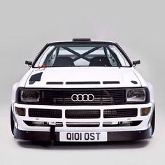 Audi Quattro-Audi Sport Quattro ,one of the few cars ever to have to have a race made just for them because they were so freakin' bad. Bugatti, Maserati, Lamborghini, Ferrari, Audi Quattro, Audi Sport, Rally Car, Car Car, Sexy Cars