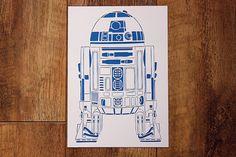 Star Wars R2D2 Paper Cut
