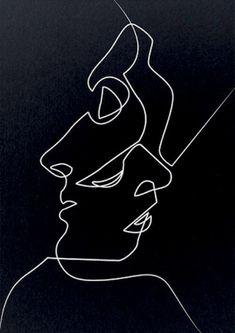 'Close Black' Art Print by quibe Line Drawing, Drawing Sketches, Art Drawings, Drawing Poses, Orca Tattoo, Hamsa Tattoo, Minimal Art, Line Art Tattoos, Black Wallpaper