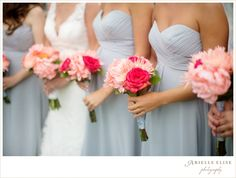 DON'T like the flowers, but I really like the color of the bridesmaids' dresses