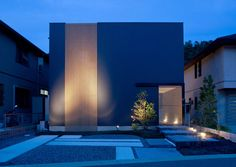 Architecture in Japan Japan Architecture, Minimalist Architecture, Architecture Design, Facade Design, Exterior Design, Minimal House Design, Contemporary Cabin, Black House Exterior, 3d Home