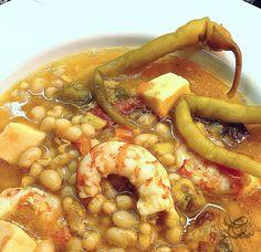 Alubias arrocinas al curry con calamar y gambas   LA COCINA DE MI CASA