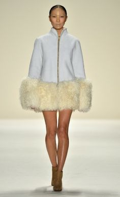 Mercedes Benz Fashion Week 2014 Lace Skirt, Fur Coat, Nyc, Mercedes Benz, My Style, Skirts, Jackets, Fall, Mongolia