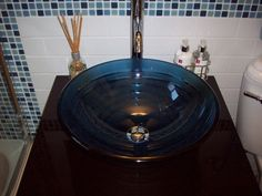 Small Bathroom Decorating Ideas WITH VESSEL SINKS | My very small bathroom, This is our only bathroom and very small we ...