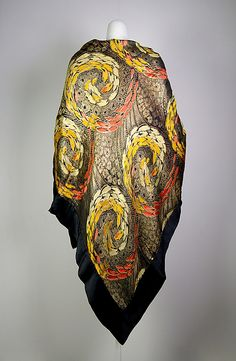 Evening shawl  Date: 1920–30 Culture: French
