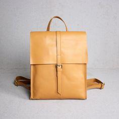 Genuine Leather School Backpack Casual Rucksack Travel Backpack Laptop Bag 14060 - LISABAG - 1