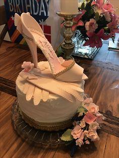 Stiletto heel and gloves. Birthday shabby chic elegance