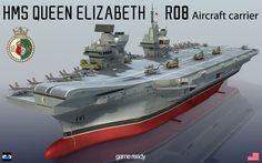HMS Queen Elizabeth (R08) Aircraft carrier,3D Model lowpoly Model P.34.853 V.43.483