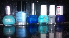 6 shades of blue.