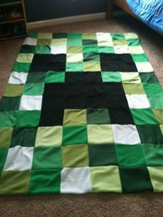 90 x 60 unofficial minecraft inspired twin size by BabyForever, $150.00