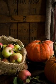 Fall Delights...apple and pumpkins.