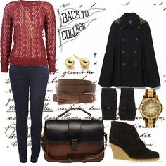 cute women's outfit combinations for college | outfit women s outfits winter college back to winter college look and ...