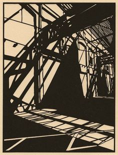 Shadow Patterns: Paper Cuts by Callum Russell Gravure Illustration, Cut Paper Illustration, Ink Illustrations, Art Postal, Art Graphique, Linocut Prints, Woodblock Print, Urban Art, Online Art Gallery