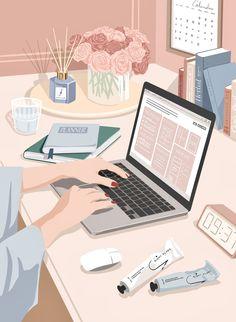 Cute Illustration, Digital Illustration, Beauty Illustration, Aesthetic Iphone Wallpaper, Aesthetic Wallpapers, Aesthetic Art, Aesthetic Anime, Digital Drawing, Doodle Drawing