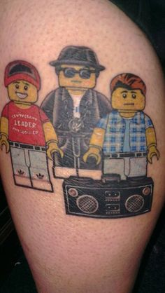 Legolism lego beastie boys tattoo by me