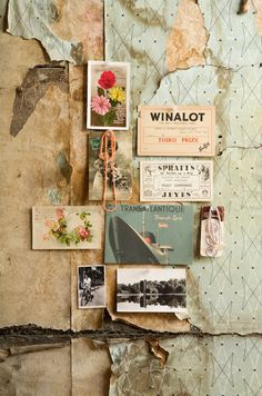 Gorgeous collage and moodboard of found textures and images. Love the vintage feel of this. Pantone Cards, Collages, Idee Diy, Inspiration Boards, Color Inspiration, Travel Inspiration, Fashion Inspiration, Moodboard Inspiration, Decoupage