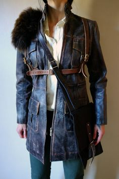 If you need to cross the desert while looking out for supplies and doing your best to avoid marauders, yet looking stylish while doing so, then there is no better coat than this. Included a fantastic leather harness that can be removed and worn on its own that itself has a removable wool accessory. Included in this deal a waxed canvas map bag that you can keep all your essentials in such as maps, compass,knives,comics and boomerangs.  The world is rust,steel gasoline and pain....but at…