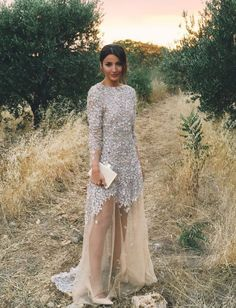 Hold Your Breath Because This Blogger's Wedding Gown Is Even More Stunning From the Back