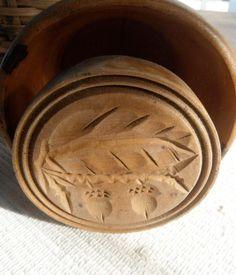 antique butter mold  acorns by centralavenue...