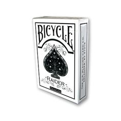Raider Bicycle Deck White by US Playing Card