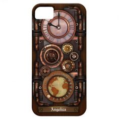 Steampunk Vintage Timepiece #1B iPhone 5 Cases, also available for other iPhones, iPod and Samsung Galaxy