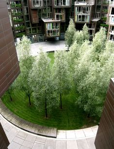 Student residence Tietgen Kollegiet in Denmark- love the simplicity plus the sunrooms in the apartments