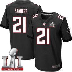 Nike Falcons #21 Deion Sanders Black Alternate Super Bowl LI 51 Men's Stitched NFL Elite Jersey
