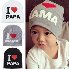 241a13d5a1c Fashion Kids Baby Infant Love Boy Girl Cute Soft Warm Hat Cap Cotton Beanie  Gift